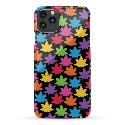 Rainbow Pot Leaf Pattern Phone Case