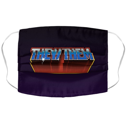 They/Them And The Masters Of The Universe Accordion Face Mask