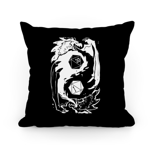 Dungeons and Dragons Yin Yang Pillow