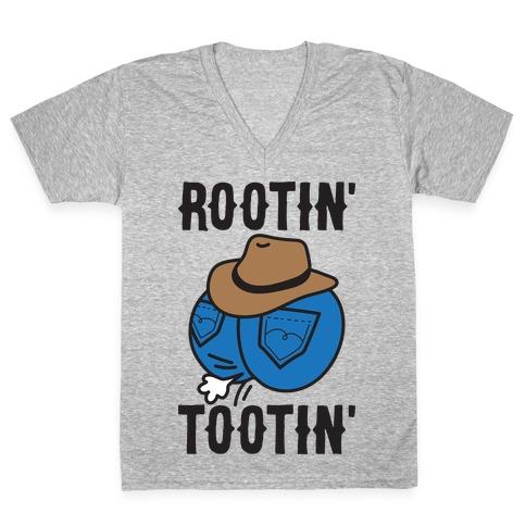 Rootin' Tootin' Cowboy Butt V-Neck Tee Shirt