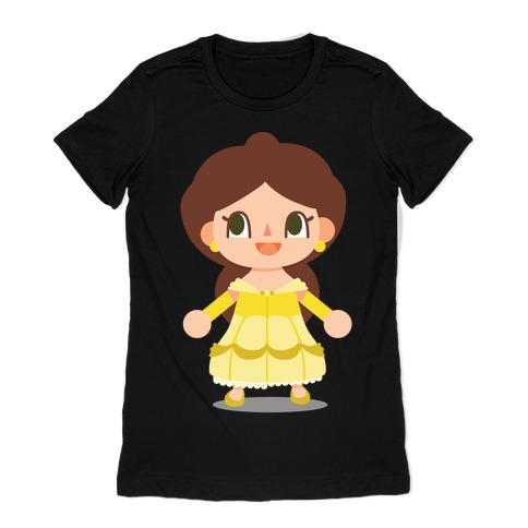Princess Crossing Belle Parody Ball Gown Womens T-Shirt