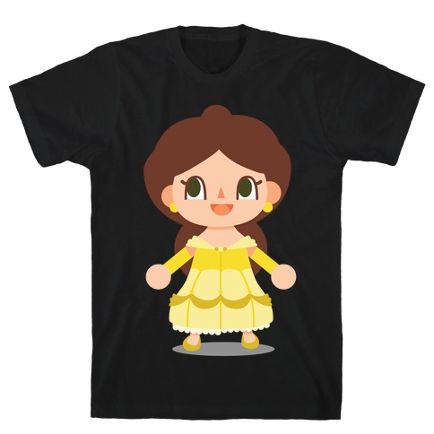 Princess Crossing Belle Parody Ball Gown T-Shirt
