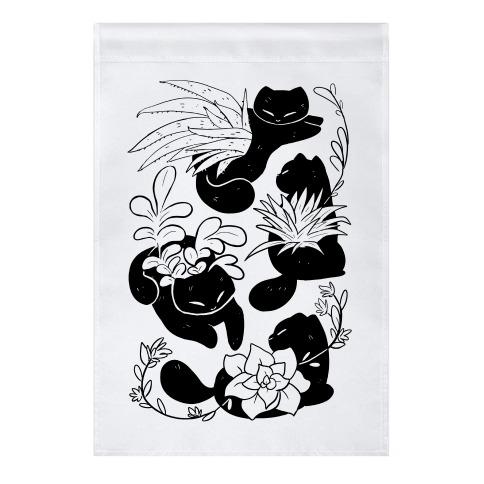 Succulent Cats Garden Flag