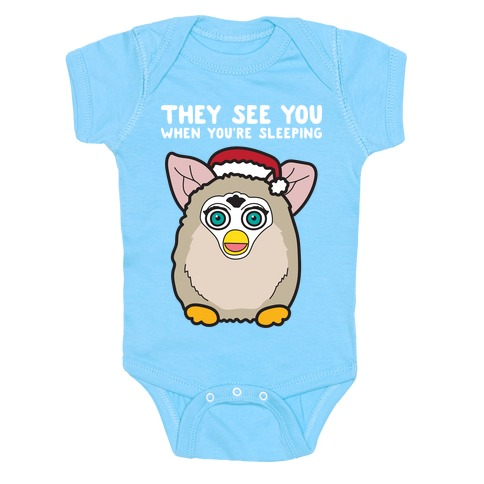They See You When You're Sleeping - Furby Baby Onesy