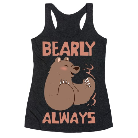 Bearly Apart, Always Together (Left) Racerback Tank Top