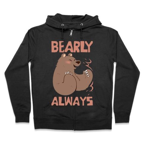 Bearly Apart, Always Together (Left) Zip Hoodie