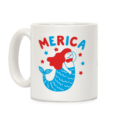 Merica Mermaid Coffee Mug