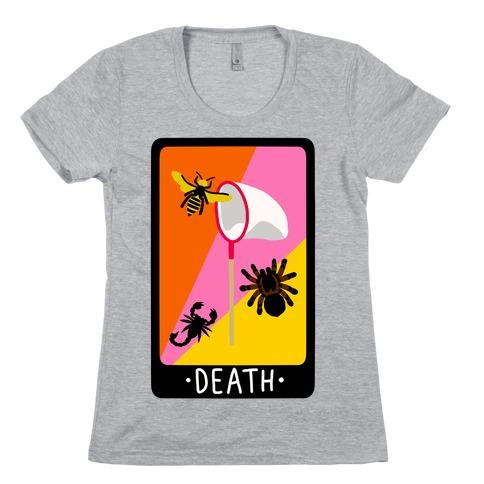 Creepy Creature Death Card Womens T-Shirt