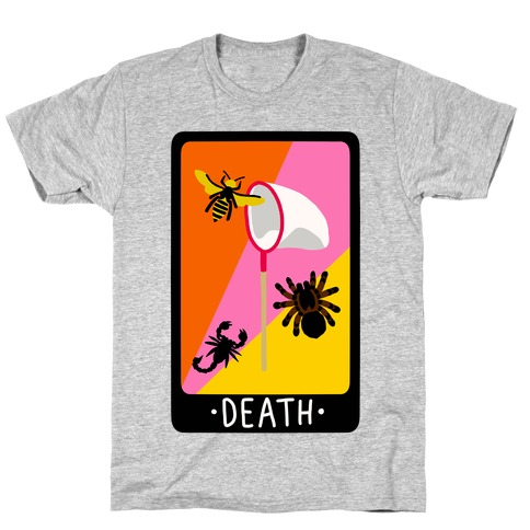 Creepy Creature Death Card T-Shirt