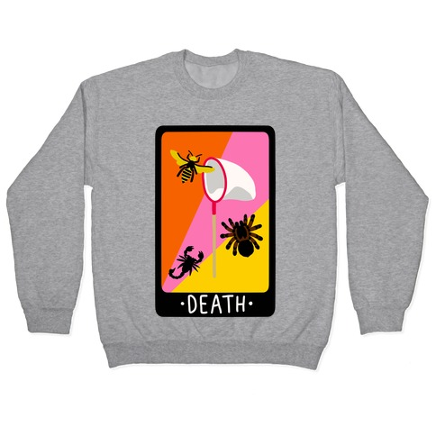 Creepy Creature Death Card Pullover