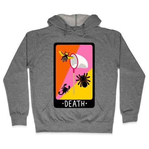 Creepy Creature Death Card Hooded Sweatshirt