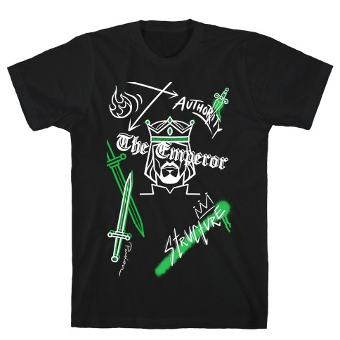 The Emperor Tarot Graphics (White)  T-Shirt