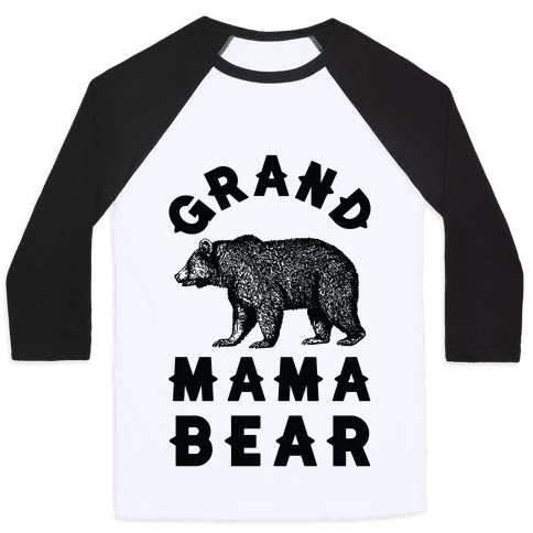 Grandmama Bear Baseball Tee