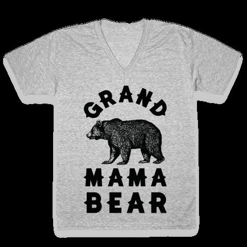 Grandmama Bear V-Neck Tee Shirt