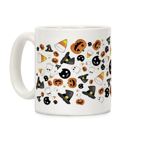 Spoopy Halloween Pattern Coffee Mug