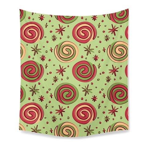 Christmas Pinwheel Cookies Tapestry