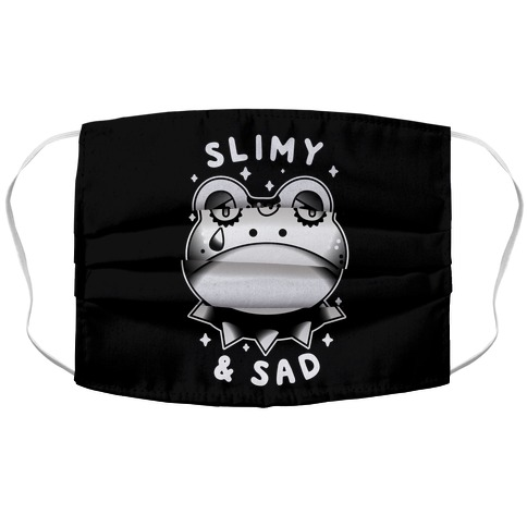 Slimy & Sad Frog Accordion Face Mask
