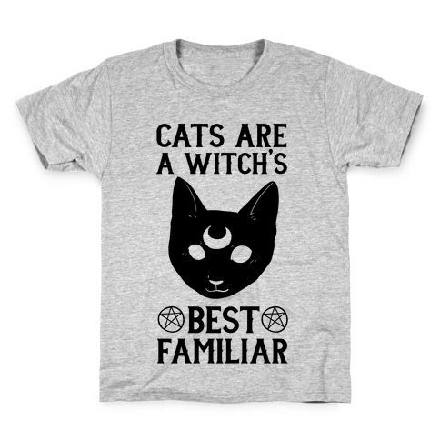 Cats are a Witch's Best Familiar Kids T-Shirt