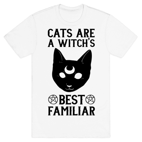 Cats are a Witch's Best Familiar Mens T-Shirt