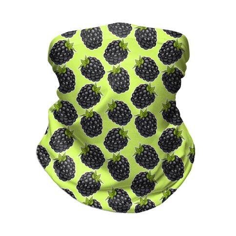 Blackberry Pattern Green Neck Gaiter