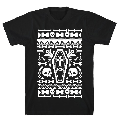 Coffins and Skulls Ugly Sweater T-Shirt