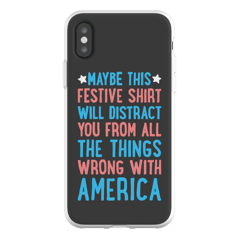 Festive American Distraction Phone Flexi-Case