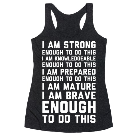 I am Enough To Do This AOC Speach Racerback Tank Top