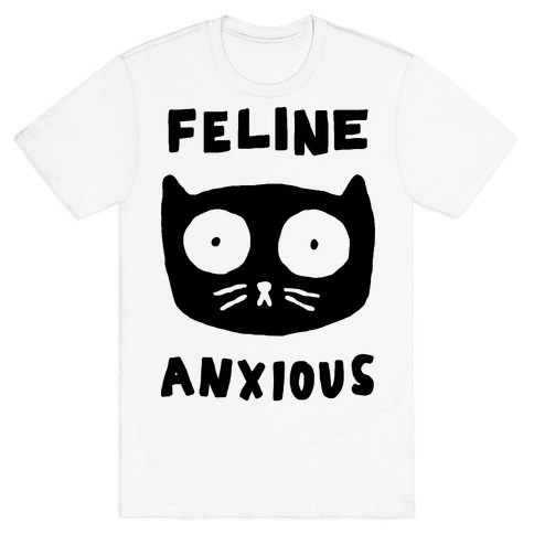 Feline Anxious Mens T-Shirt