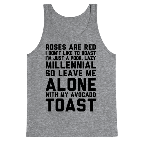 Millennial Poem  Tank Top