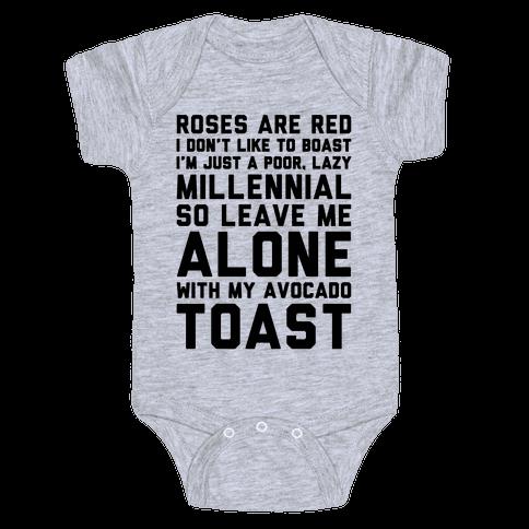 Millennial Poem  Baby Onesy