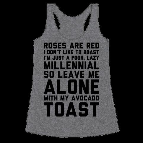 Millennial Poem  Racerback Tank Top
