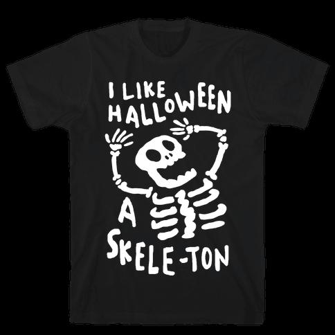 I Like Halloween A Skele-ton Mens T-Shirt