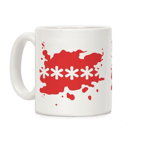 Futaba Red Splatter Coffee Mug