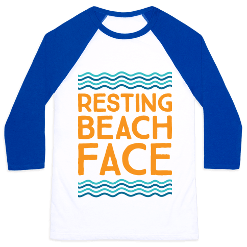 Resting Beach Face Baseball Tee