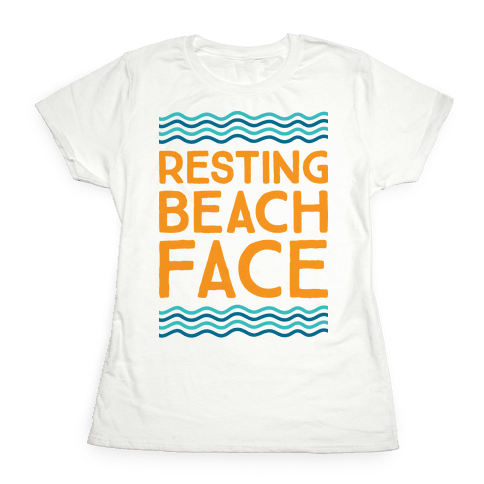 Resting Beach Face Womens T-Shirt