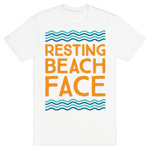 Resting Beach Face Mens T-Shirt