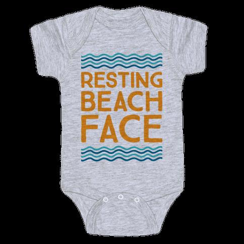 Resting Beach Face Baby Onesy