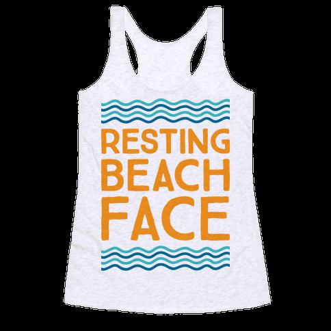 Resting Beach Face Racerback Tank Top