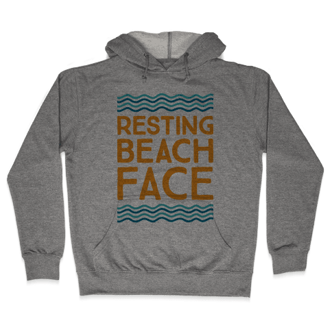 Resting Beach Face Hooded Sweatshirt