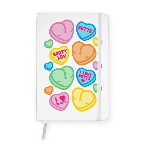 Candy Heart Butts Notebook