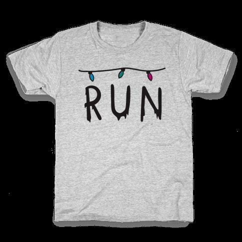 Run Stranger Things Kids T-Shirt