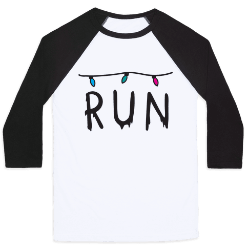 Run Stranger Things Baseball Tee
