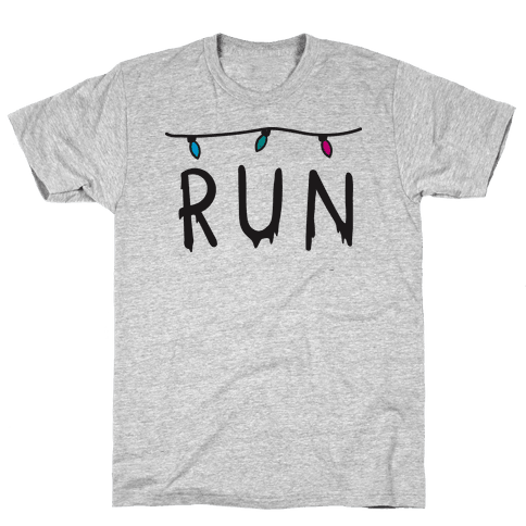 Run Stranger Things Mens T-Shirt