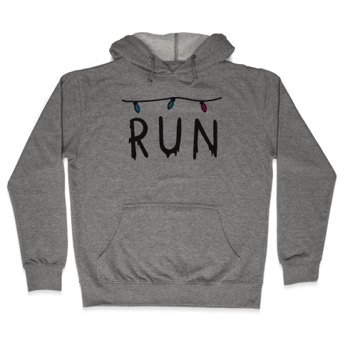 Run Stranger Things Hooded Sweatshirt