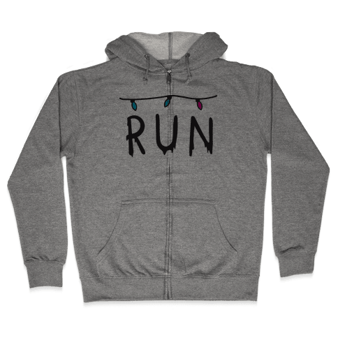 Run Stranger Things Zip Hoodie