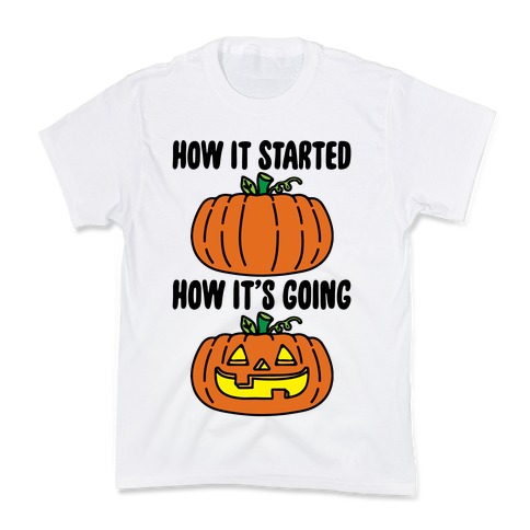 How It Started Jack O Lantern' Parody Kids T-Shirt