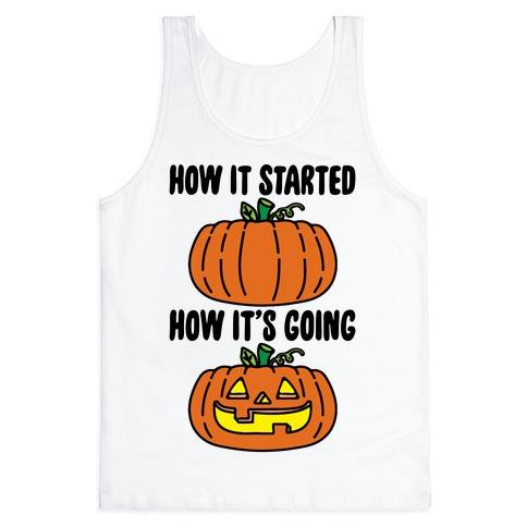 How It Started Jack O Lantern' Parody Tank Top