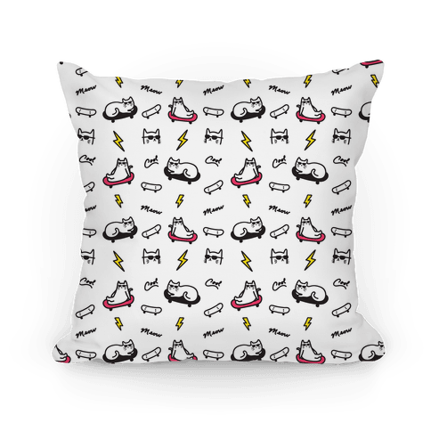 Cool Cats Pattern Pillow