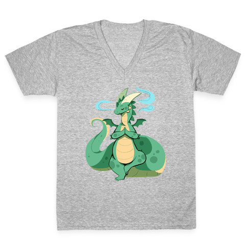 Dragon At Peace V-Neck Tee Shirt