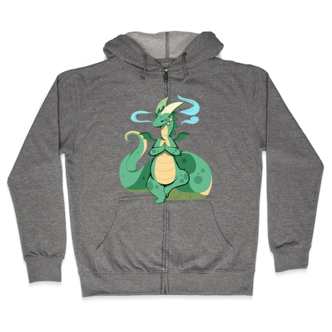 Dragon At Peace Zip Hoodie